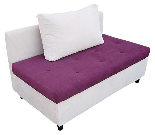 【紫漾】时尚双人座无扶手沙发