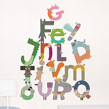 巴黎艺术壁贴—可爱 英文字母a~z